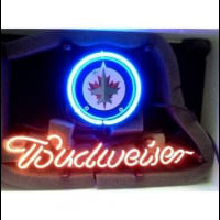 Winnipeg Jets Budweiser Neon Bar Sign Neon Sign