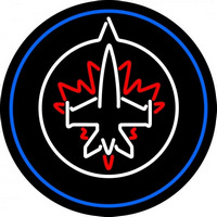 Winnipeg Jets Primary 2011 12 Pres Logo NHL Neon Sign Neon Sign