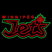 Winnipeg Jets Wordmark 2011 12 Pres Logo NHL Neon Sign Neon Sign