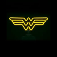 Wonder Woman Desktop Neon Sign
