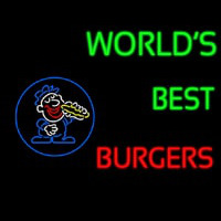 Worlds Best Burgers Neon Sign