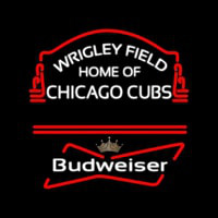 Wrigley Field Home of Chicago Cubs Budweiser Neon Sign Neon Sign