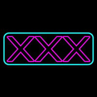X   Turquoise Border Neon Sign