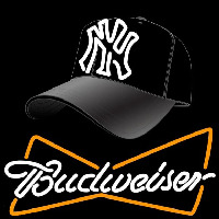 Yankees Fitted Hat with Budweiser Neon Sign Neon Sign