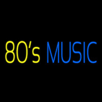 Yellow 80s Blue Music Neon Sign