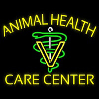 Yellow Animal Health Care Center Neon Sign
