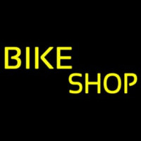 Yellow Bike Shop Neon Sign