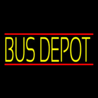 Yellow Bus Depot Neon Sign