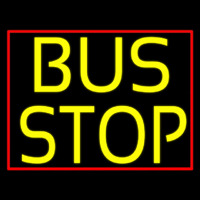 Yellow Bus Stop Neon Sign