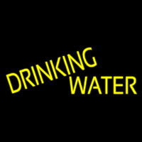 Yellow Drinking Water Neon Sign
