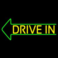 Yellow Drive In Neon Sign