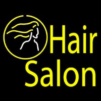 Yellow Hair Salon Neon Sign