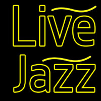 Yellow Live Jazz Neon Sign