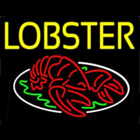 Yellow Lobster Neon Sign