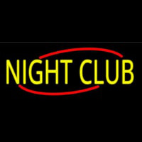 Yellow Night Club Neon Sign