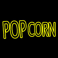 Yellow Popcorn Block Neon Sign
