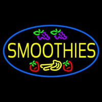 Yellow Smoothies Neon Sign