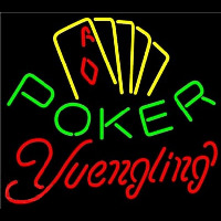 Yuengling Poker Yellow Neon Sign