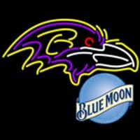 blue moon baltimore ravens nfl neon sign Neon Sign