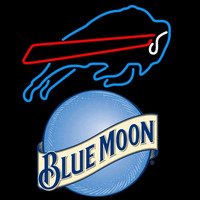 blue moon buffalo bills nfl neon sign Neon Sign