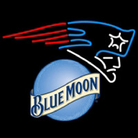 blue moon new england patriots nfl beer neon sign Neon Sign