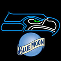 blue moon seattle seahawks nfl neon sign Neon Sign